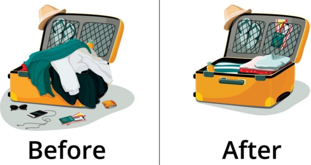 art of packing suitcases
