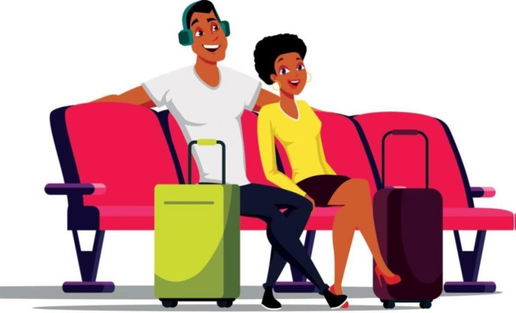 Hand luggage on aeroplanes